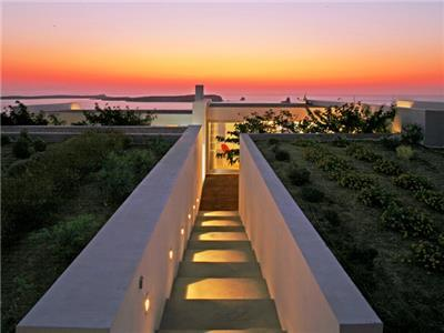 Paros  - Gv- The Sunset Villa offers privacy in a stunning seafront pool villa