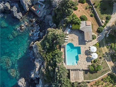 Gv - Samos - Seafront Estate with pool  Villa 1 with stunning sea views and  gardens on the seafront