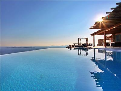 Greek Villas Mykonos - The  One and Only Villa with Pool  and 7 bedrooms to sleep 14 persons