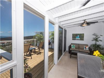 Screened in deck between the bedroom and sundeck