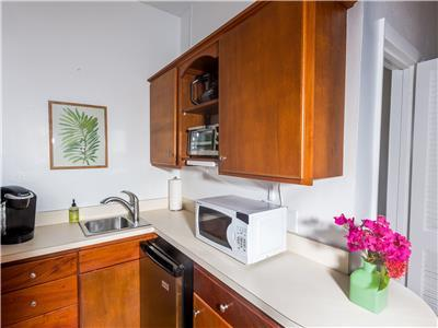 Kitchenette with microwave and coffee maker!