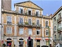 Building facade with XIX tiles