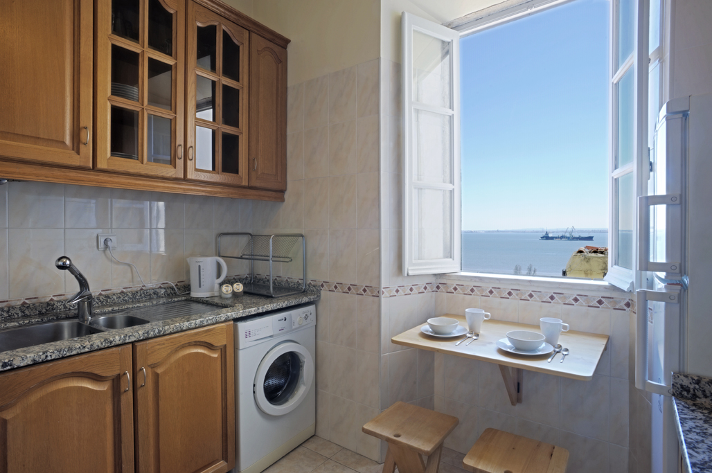 Kitchen with river view