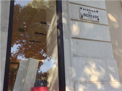 On the street parallel to Av Liberdade