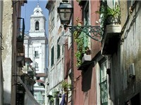 Narrow centenary streets of Alfama - Tourist Attraction in Lisbon