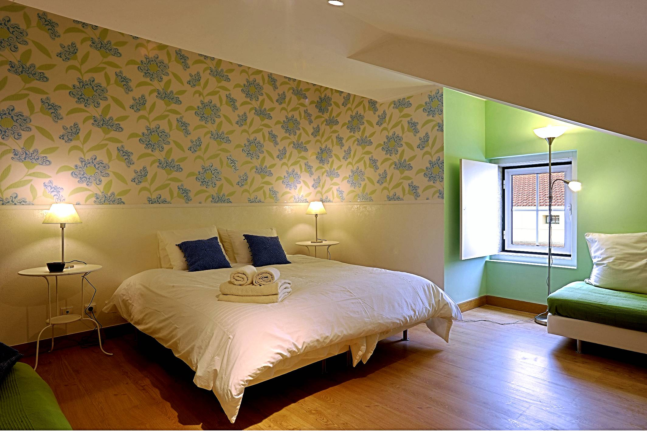 Room 2 - main bed prepared as double bed