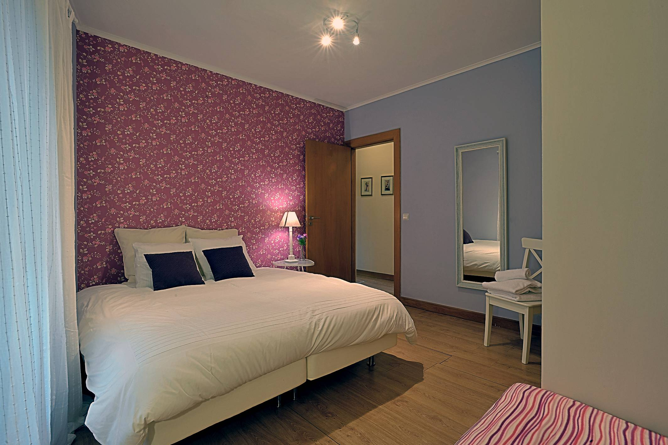 Room 4 prepared w/ double bed (sleep up to 4)