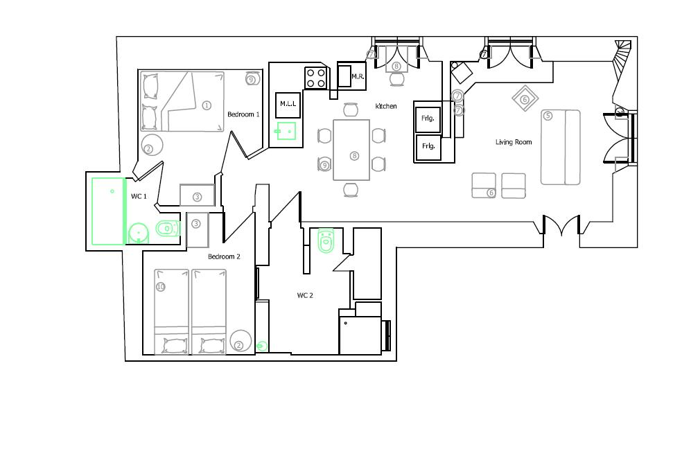 Apartment downstairs Plan