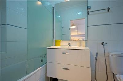 bathroom downstairs (bathtub with shower)