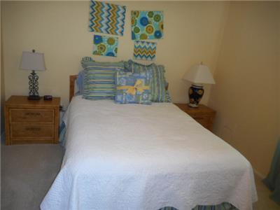 Guest bedroom queen size bed