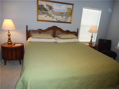 Master bedroom king size bed
