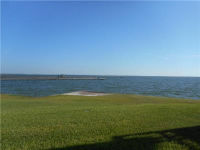 View of the Aransas Bay from the back patio