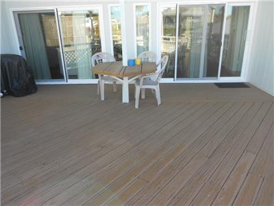 Upstairs back deck