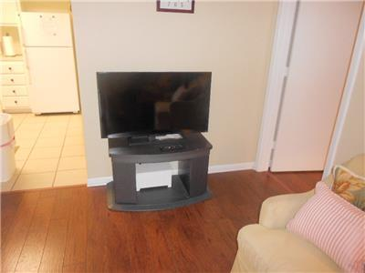 Flat screen t.v. in living room