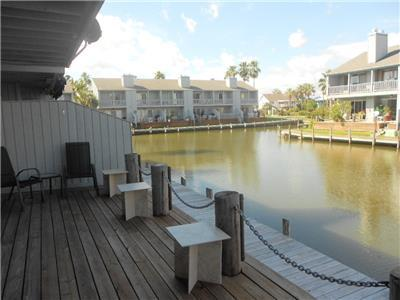 Canal and deck area
