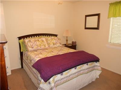 Master bedroom with full size bed