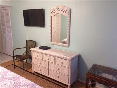 Picture of new dresser in the master bedroom