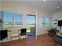 Wonderful bayviews from the living and dining area