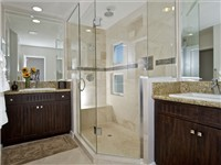 Master bathroom with sumptious shower