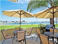 Shared patio with wonderful bay views