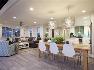 3rd level - stunning open floor plan with kitchen,