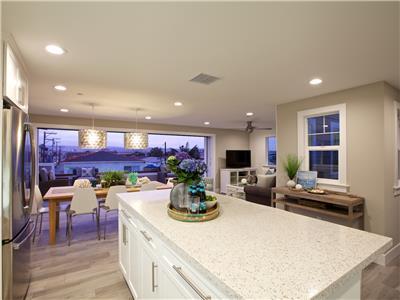 Upper: Kitchen island