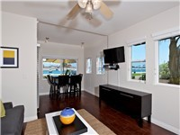 1 BR unit: Living and dining area