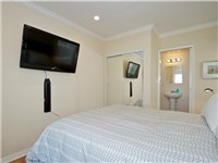 Bedroom with nice TV