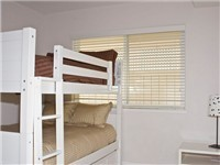 Bedroom with bunk bed (three double beds)