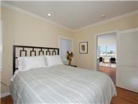 Bedroom with new queen bed