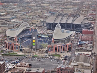 Century Link,home of the Seahawks and Seattle Sounders FC and Safeco Field Home of the Mariners