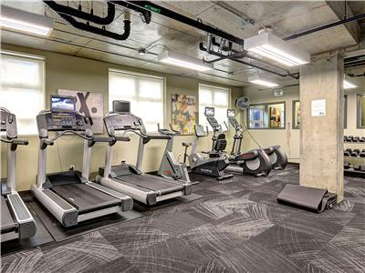 Fitness room is available for you use as well.