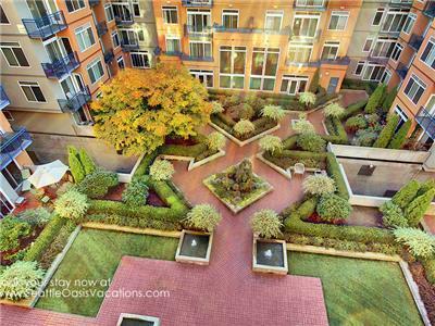 European style courtyard