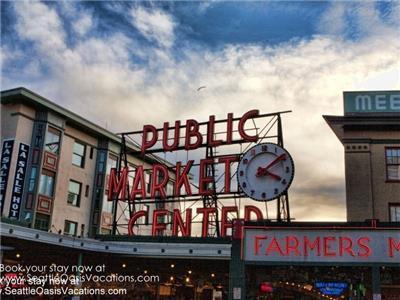 Pike Place Market is five blocks away.