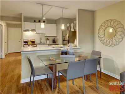 Open floor plan is airy and light.