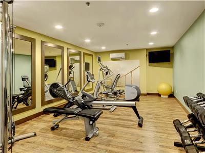 Fitness center available for guests.