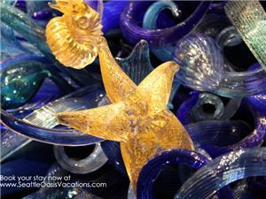 Six blocks to Seattle Center/Chihuly Glass Garden