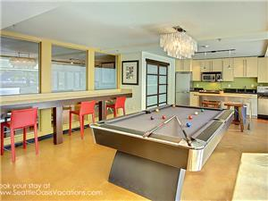 Pool Table and game room.