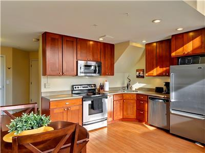 Kitchen is open to living space