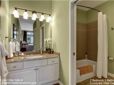 En suite bathroom in master bedroom.