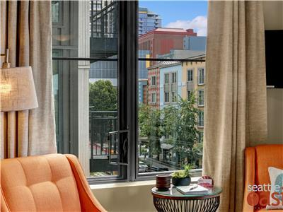 Look out into our eclectic Belltown neighborhood.