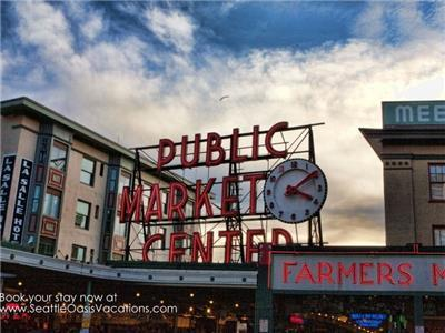 Pike Place Market five blocks away!