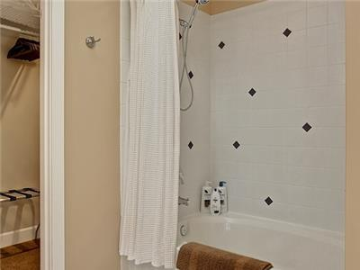Combo Tub-Shower in Master Bath with walkin closet