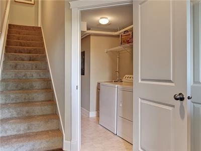 First Floor Entry with Full Sized Washer Dryer