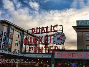 You can't miss the Pike Place Market