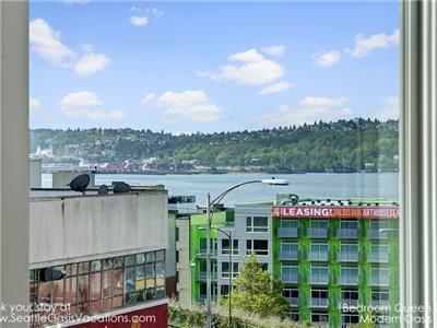 Peek a boo view of Elliott Bay and West Seattle.