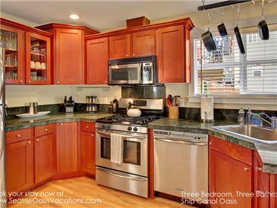 Stainless kitchen, chef's delight with Natural Gas