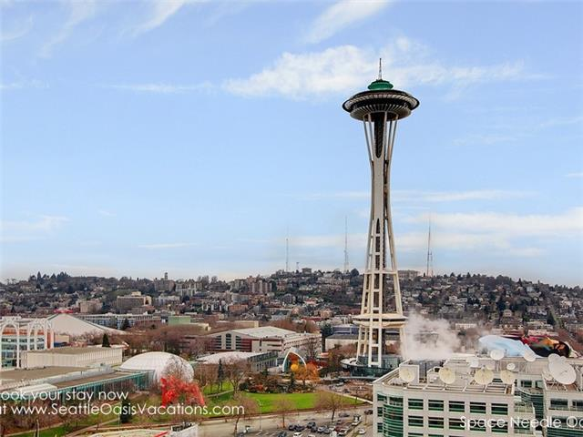 Yes, you are THIS close to the Space Needle!