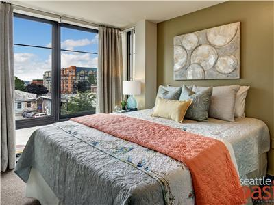 Second bedroom with view of Belltown