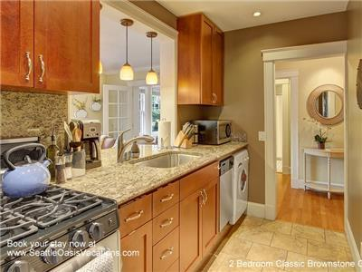 Second view of beautiful kitchen.